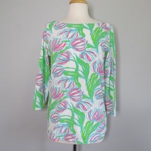Lilly Pulitzer Andie Boatneck Ring The Bellboy Top